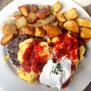 Black Bean Cakes and Eggs