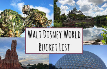Walt Disney World Bucket List - kktravelsandeats